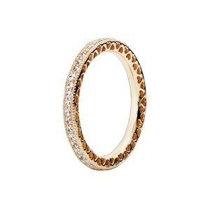 14k gold pandora heart cz ring 8.5